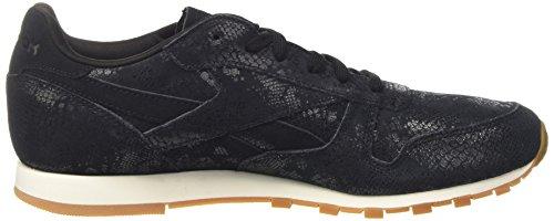 Reebok Sneakers Clean Leather Womens Black Black Exotics Classic qO1pwraq
