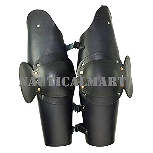 - NAUTICALMART Soldier 3/4 Leather Arm Armour Black One Size