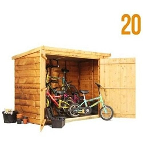 Bicicleta de madera cobertizo armario caja 3 x 6 ft/Patio jardín ...