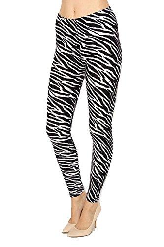 High Quality Printed Leggings (Zebra Animal Print)