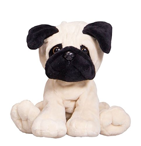 Cuddly Soft 8 inch Stuffed Brown Pug Dog...We stuff 'em...you love 'em! ()