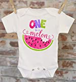 First Birthday Watermelon Onesie®, One In A Melon, Funny Birthday Outfit, Cute Baby Bodysuit, Cute Birthday Clothes, Boho Baby Onesie