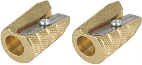 Alvin Brass Bullet Sharpener (2, DESIGN 1) by Alvin