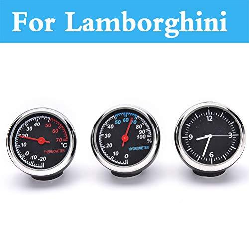 Fastener & Clip Car Digital Thermometer Hygrometer Clock Watch for Lamborghini Murcielago Reventon Sesto Elemento Veneno Aventador Gallardo - (Color Name: Hygrometer)