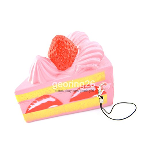 New Cute Squishy Strawberry Shortcake Phone Straps Cream Scented Slow Rising (Cream Filled Halloween Cupcakes)