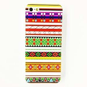 ZCL-Patrón Colored Stripes Triángulo de plástico duro caso para iPhone 5/5S