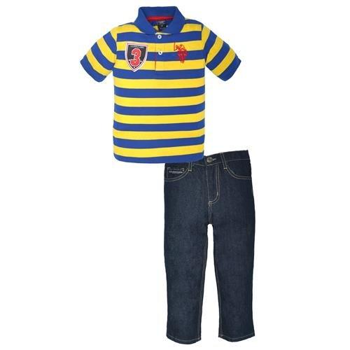 Denim Embroidered Pant Set - 5