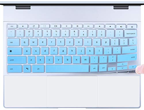 CaseBuy Keyboard Cover Compatible 2018/2017 Release Google Pixelbook 2-in-1 Chromebook 12.3 Touch-Screen, Google Pixelbook Accessories, Gradual Blue