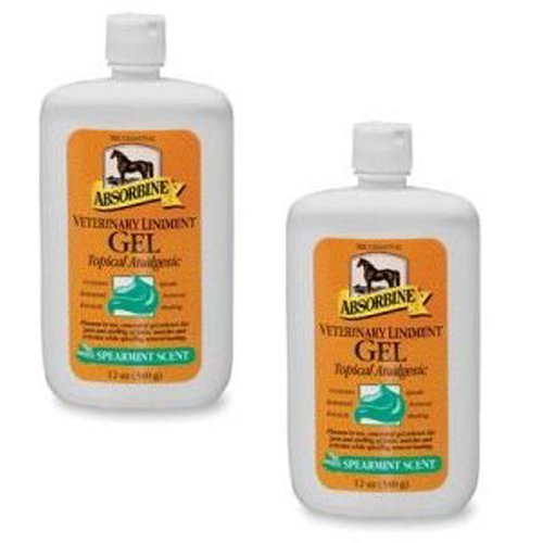 Absorbine Gel (Absorbine 2-Pack Veterinary Liniment Squeeze Bottle Gel, 12-Ounce)