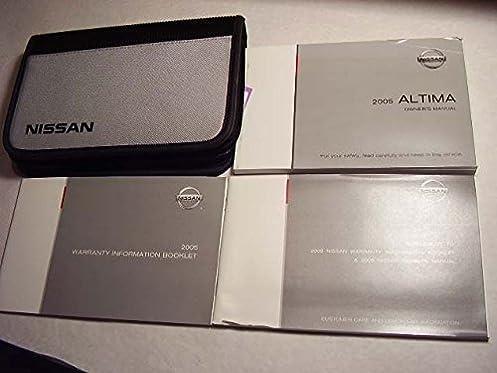 2005 altima nissan owners manual nissan amazon com books rh amazon com 2005 Nissan Altima Shop Manual 1996 Nissan Altima