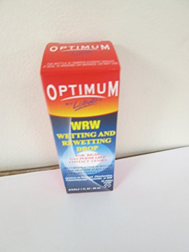 Drops Lens Rewetting (Optimum WRW Wetting and Rewetting Drops 1 oz (Pack of 4))