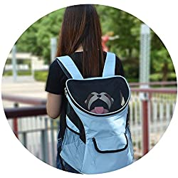 ZZmeet Pet Carrier Big-Size Hands-Free Travel Sport Outdoors Double Shoulder Pet Backpacks Portable Cat Puppy Mesh Carrier Bag Pet Dog,Rose,36.5x27x40cm