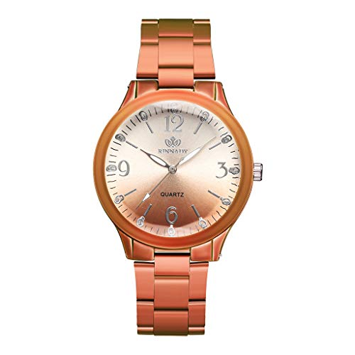 Qvwanle Women Watch Stylish Casual Geometric Surface Gradient Matte Dial Ladies Quartz Watch for Gift (Brown)