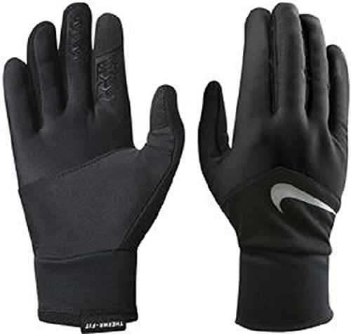 Nike Women's Dri-Fit Tempo Run Gloves, Med (Black/Silver) by Nike (Image #1)