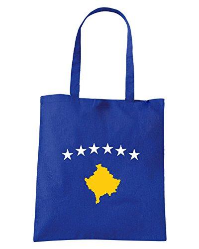 T-Shirtshock - Bolsa para la compra TM0207 Kosovo Flag flag Azul Real