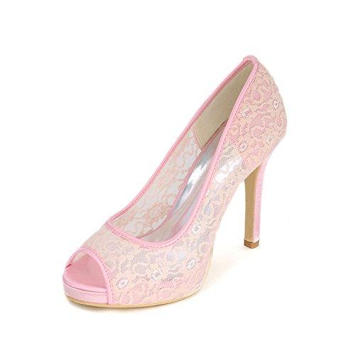 Mariage yc Amende Soirée Pink Avec Party De Custom Peep Sandales color Femmes L Talons Hauts Chaussures Toe Multi 4SwqAIdA