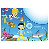 AmerCare 14'' x 10'' Full Color Sea Theme Activity Sheets, Case of 1000