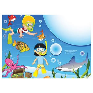 AmerCare 14'' x 10'' Full Color Sea Theme Activity Sheets, Case of 1000 by Amercare