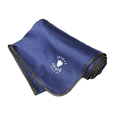 Insect Shield Outdoor Blanket, Dark Blue, 56x74-Inch