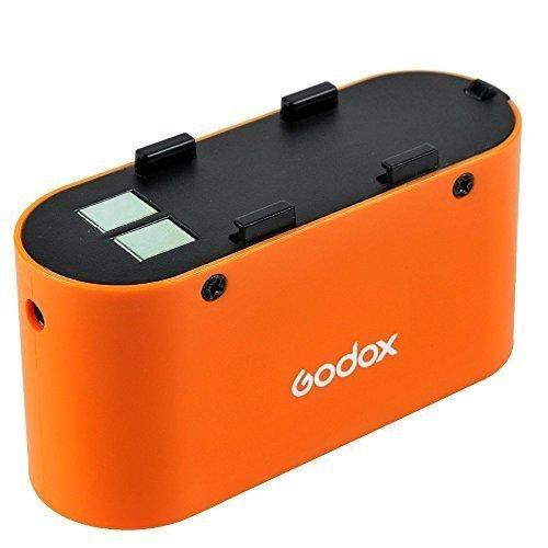 Godox PB960 4500mAh Flash Power Single Battery + Pb-960 Battery Charger + Lx Power Cable for Powering Godox LED500 LED308 LED170 LED126 (Orange)