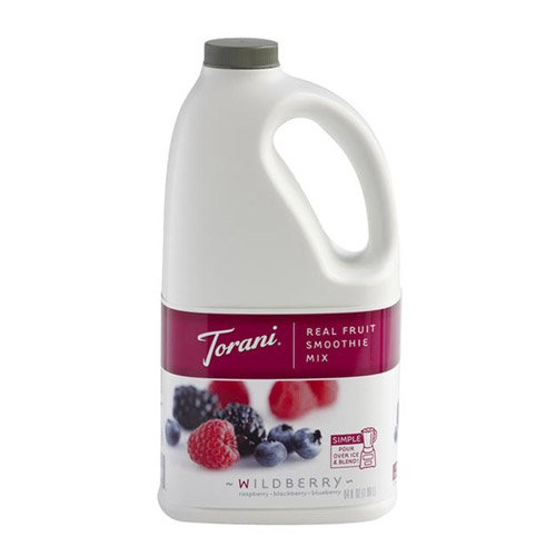- Torani Blueberry Pomergranate Real Fruit Smoothie Mix, 64 oz