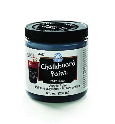 FolkArt 2517 8-Ounce Chalkboard Paint, Black Color: Black Office Supply Product