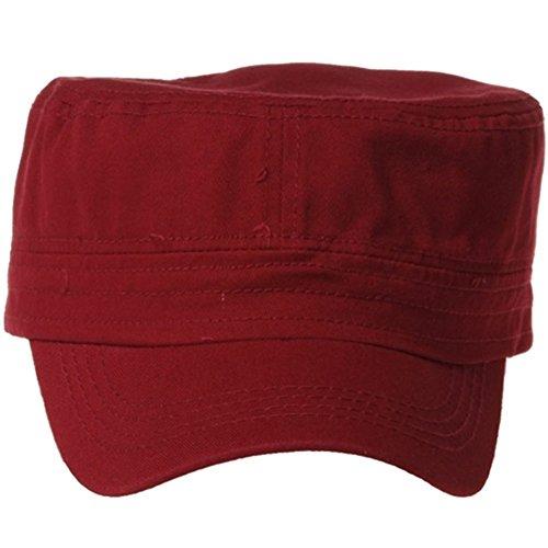 QML CADET Cotton adjustable Twill Cap ( 2 STYLES, 35 COLORS ) (1 TYPE, BURGUNDY)