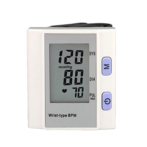 Qiruy Digital LCD Wrist Blood Pressure Monitor Heart Beat Rate Meter Automatic Arm Wrist Pulse ()