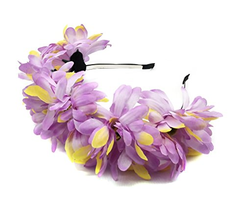 Women Cat Ears Elf Rose flower Daisy Flower Sunflower Crown Hair wreath Bridal Headpiece Festivals Hair Band Headband Hairband Costume Hair Hoop (AF Daisy (Horse Fancy Dress Ideas Halloween)
