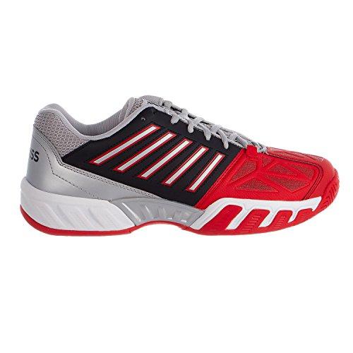 Kswiss Bigshot Light 3 Tennis Shoe - Fiery Red/Black/Silver - Mens - 10