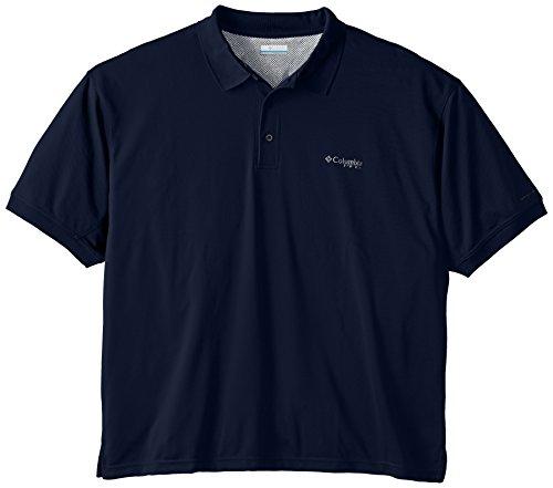 Columbia Mens Perfect Cast Polo Shirt, Collegiate Navy, 3X
