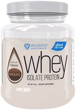 Integrated Supplements CFM Whey Protein Isolate Diet Supplement Snack Edition, Chocolate, 4 serve