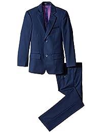 Isaac Mizrahi Big Boys' Slim Boys 2 Piece Cut Wool Blend Suit