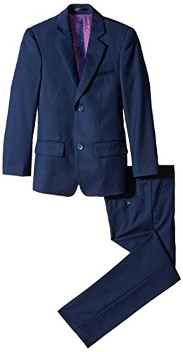 Isaac Mizrahi Big Boys' Slim Boys 2 Piece Cut Linen/Cotton Suit, Navy, 18]()