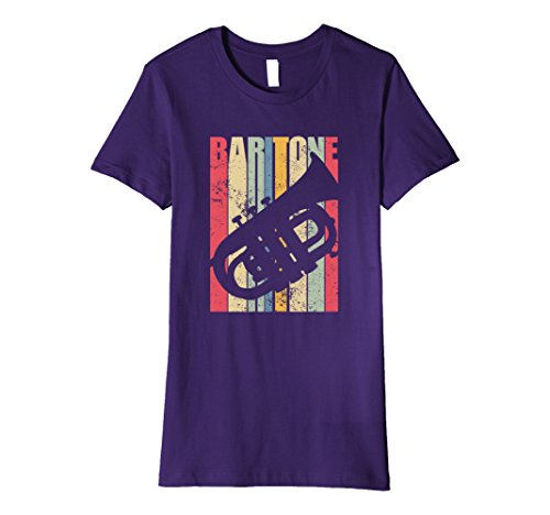 Womens Vintage Baritone Horn T-Shirt XL Purple