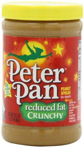 Peter Pan Reduced Fat Crunchy Peanut Spread, 16.3-Ounce Jars (Pack (Pan Peanut Butter)