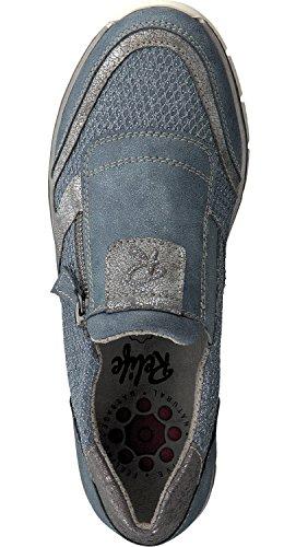 Relife Sko Kvindelige Sko Til Størrelse 44 Tøffel 8067-16711-02 Lynlås I 2 Farver Jeans dBPGVB