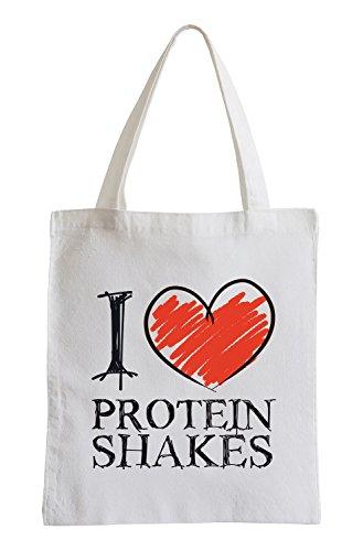 Amo frullati di proteine ??Fun sacchetto di iuta
