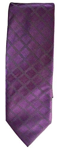 Hugo Boss Hugo Mens Solid Purple With Stripes Pattern 100% Silk Tie (50324513 (Hugo Boss Silk)