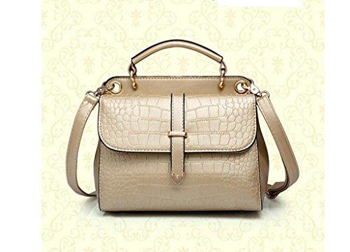 La nueva ola de bolsos de la manera, hombro, paquete diagonal del bolso del patrón de cocodrilo Gold