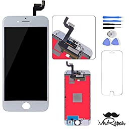 White iphone 6s LCD Display Touch Screen Digitizer Assembly Screen replacement full set with tools Mr Repair Parts