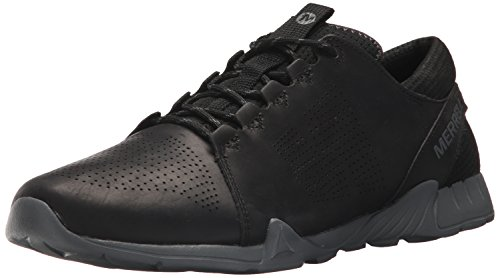 Merrell Mens Versent Kavari Lace Leather Sneaker Black