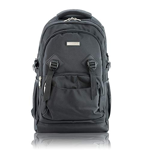 60L 22' Large Laptop Backpack for Men and Women, Computer Bag Water Resistant and fits up to 17' Laptop, Macbook, Tablet for Travel, Business, College, School Book Bag by British Knight (B18-PE8743)
