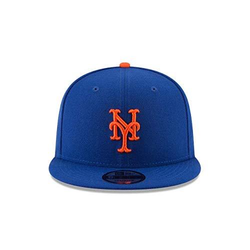 New Era New York Mets MLB Basic Snapback Original Team Color Adjustable 950 Cap Royal Blue