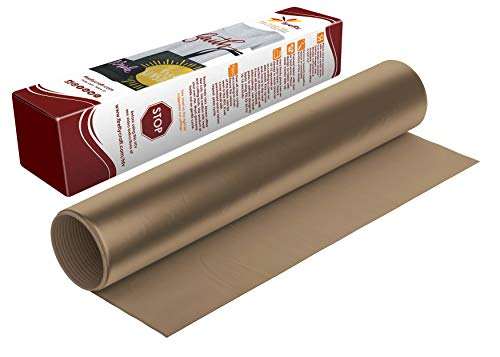 Firefly Craft Regular Tan Heat Transfer Vinyl Sheet | Tan HTV Vinyl | Tan Iron On Vinyl for Cricut and Silhouette | Heat Press Vinyl for Shirts - 12 x 20