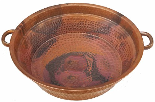 Egypt gift shops Copper Foot Soak Wash Spa Styling Salon Massage Pedicure Bowls Healthy Wash Pot Garden Planter Water Storage Skin moisturizing by Egypt Gift Shops