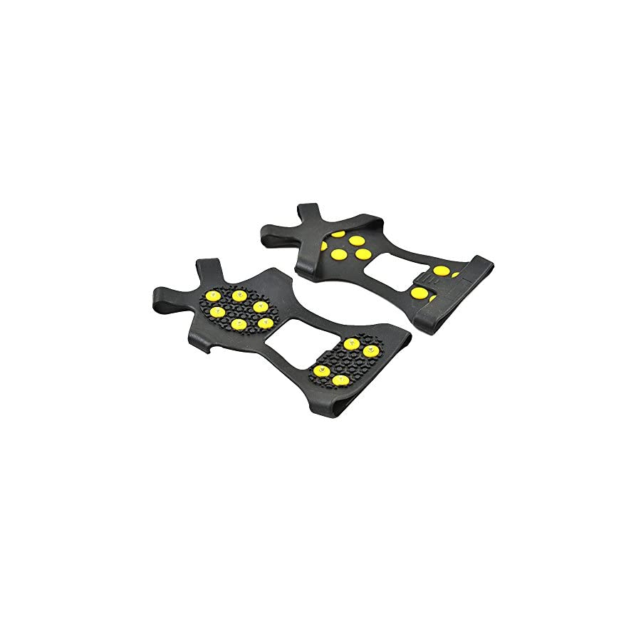 Calunce Ice & Snow Grips Over Ice Cleats Ice Grips Anti Slip Snow Shoes Crampons Walking
