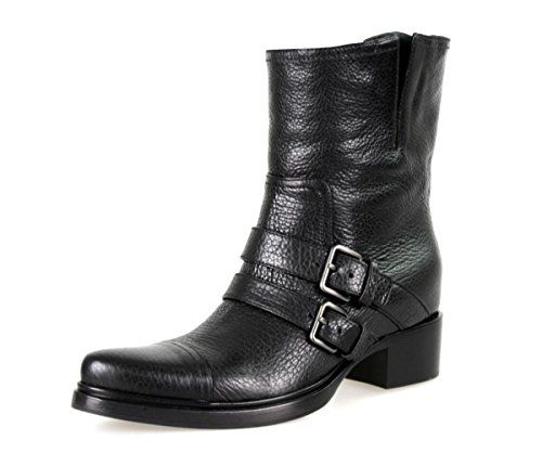 Miu Miu by Prada Women's 5U8855 Black Leather Half-Boot EU 41 / US - Prada Miu Miu