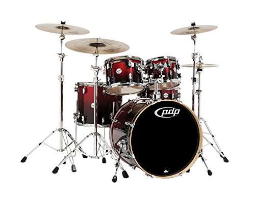 PDP Concept Maple by DW 5-Piece Shell Pack Red To (5 Piece Drum Shell)