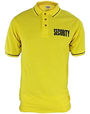 Poly Cotton Tactical Security Polo Shirt with Woven Security Sleeves and Collars